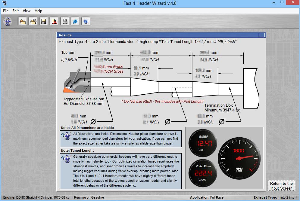 4T Header Wizard - Exhaust Header Software